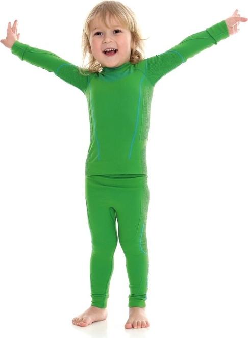 Bielizna termoaktywna dziecięca chłopięca THERMO Brubeck zielona komplet