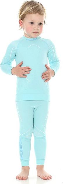 Bielizna termoaktywna dziewczęca THERMO Brubeck komplet błękitna