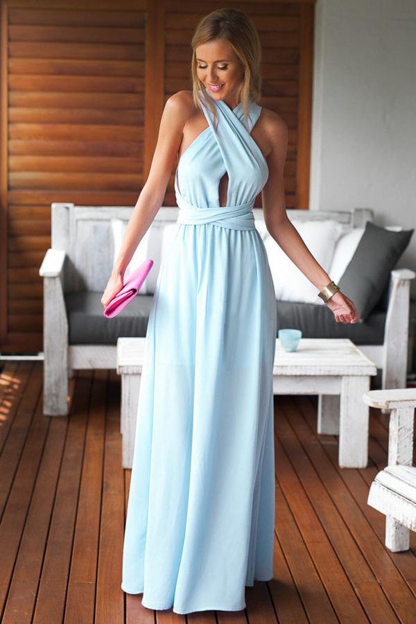 Błękitna sukienka Elegrina