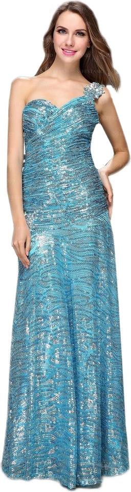 Błękitna sukienka elegrina maxi