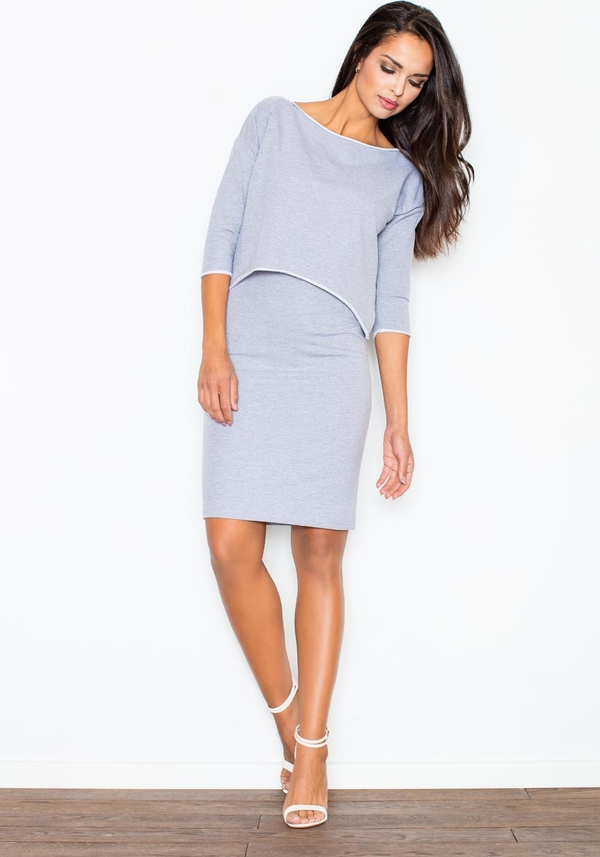 Błękitna sukienka Figl mini