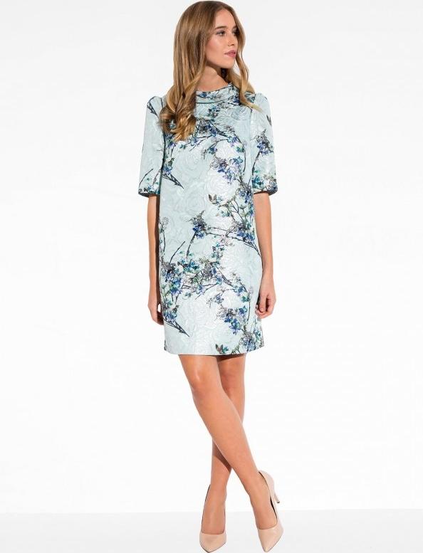 Błękitna sukienka l'af mini dopasowana