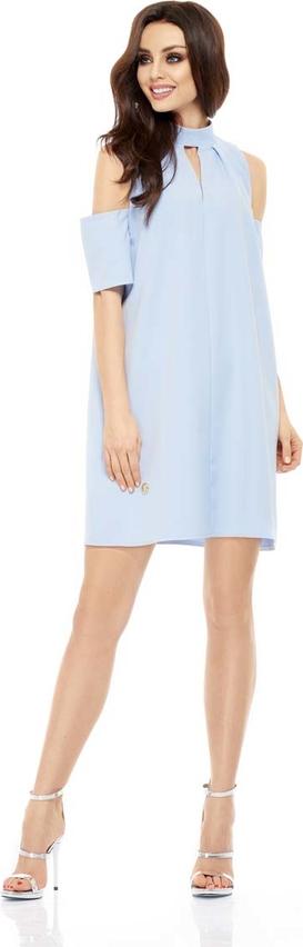 Błękitna sukienka Lemoniade ze stójką mini