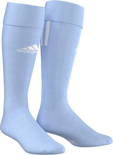 Błękitne skarpety Adidas z dzianiny
