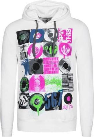 Bluza Converse z nadrukiem z dresówki w młodzieżowym stylu