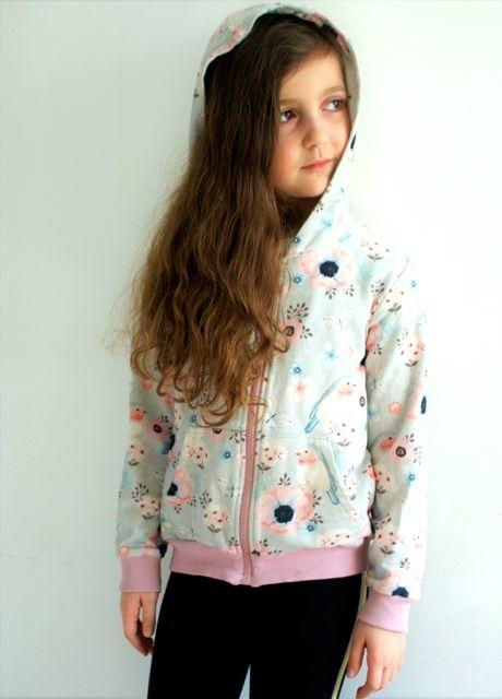 Bluza dziecięca Lemika z bawełny w kwiatki