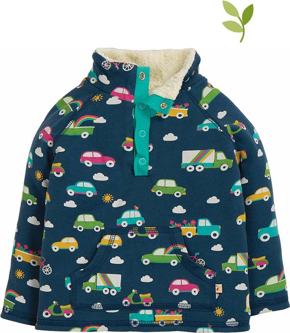 Bluza Frugi z nadrukiem ze skóry ekologicznej