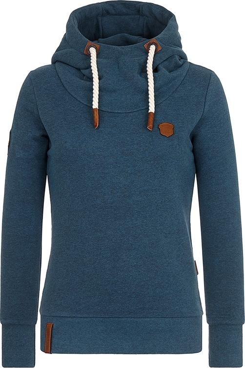 szyk Niebieska bluza Naketano z dresÓwki krÓtka Odzież