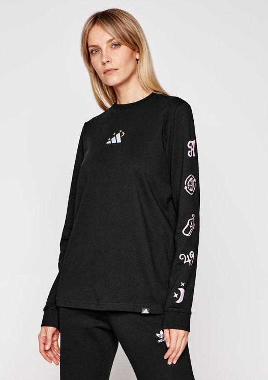 Bluzka Adidas z okrągłym dekoltem z długim rękawem