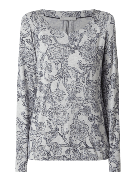 Bluzka Betty & Co Grey w stylu casual z długim rękawem
