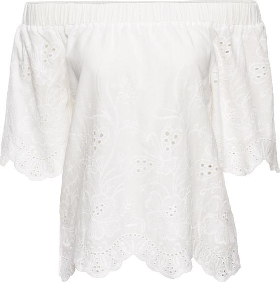 Bluzka bonprix BODYFLIRT w stylu boho hiszpanka z krótkim rękawem