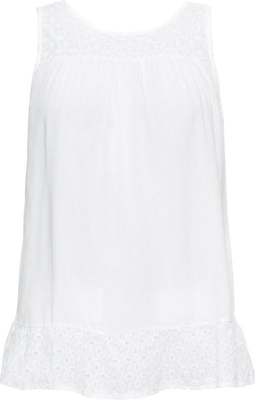 Bluzka bonprix BODYFLIRT z okrągłym dekoltem na ramiączkach