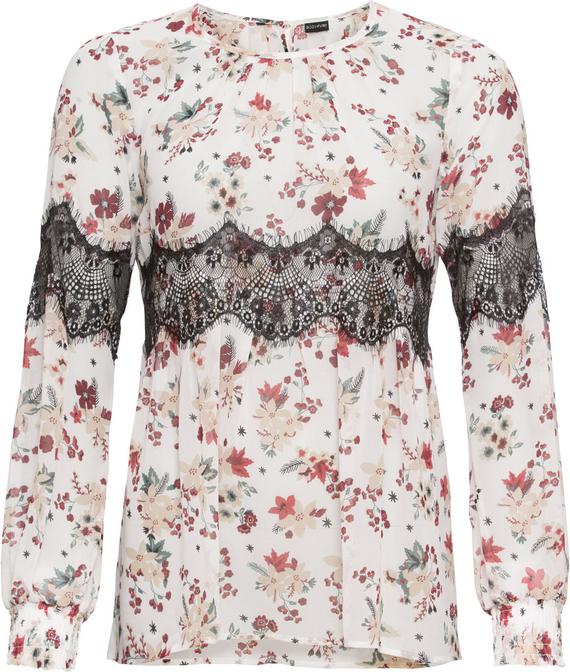 Bluzka bonprix BODYFLIRT z okrągłym dekoltem z długim rękawem w stylu casual