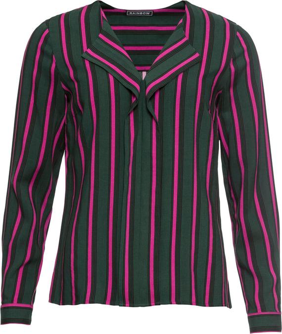Bluzka bonprix RAINBOW z dekoltem w kształcie litery v