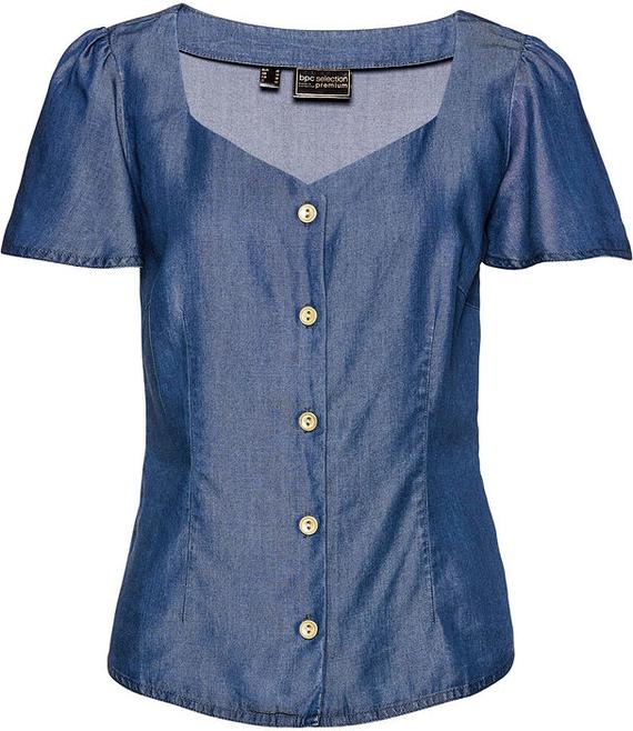 Bluzka bonprix z krótkim rękawem w stylu casual