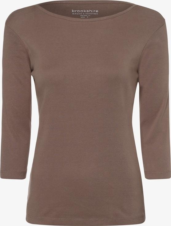 Bluzka brookshire w stylu casual z długim rękawem