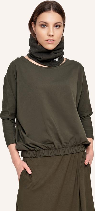 Bluzka Byinsomnia z tkaniny z długim rękawem