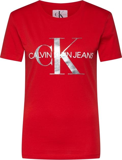 Bluzka Calvin Klein z okrągłym dekoltem z tkaniny w młodzieżowym stylu