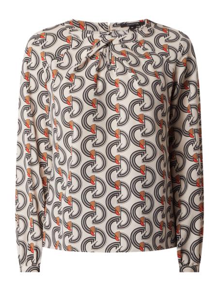 Bluzka comma, z okrągłym dekoltem z długim rękawem w stylu casual