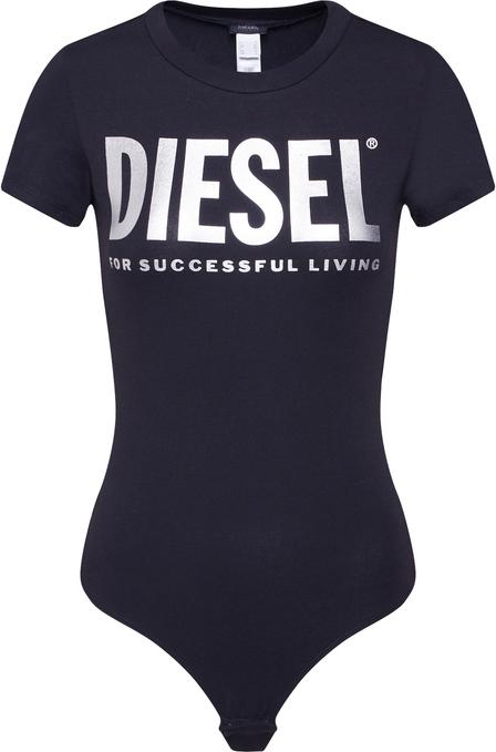 Bluzka Diesel z okrągłym dekoltem z dżerseju z krótkim rękawem