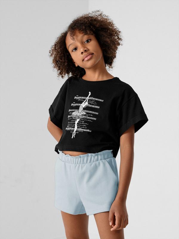 Bluzka dziecięca 4F z dzianiny dla dziewczynek