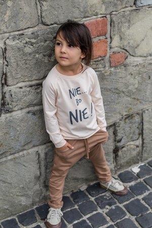 Bluzka dziecięca M-art-a-baby z długim rękawem z bawełny