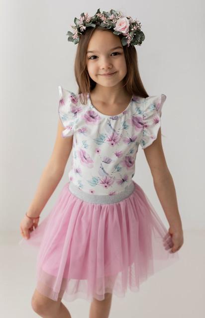 Bluzka dziecięca Myprincess / Lily Grey z krótkim rękawem
