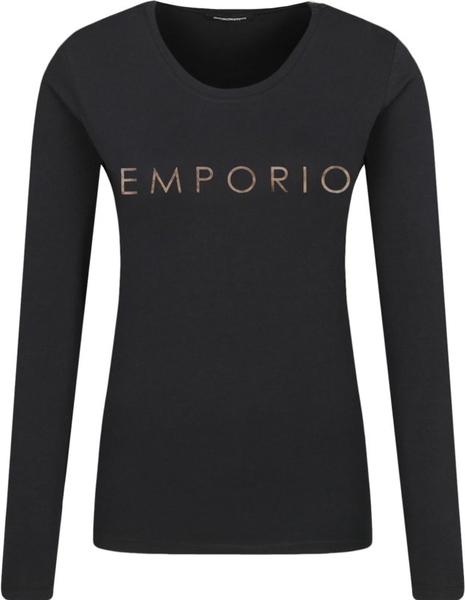 Bluzka Emporio Armani z okrągłym dekoltem w stylu casual z długim rękawem