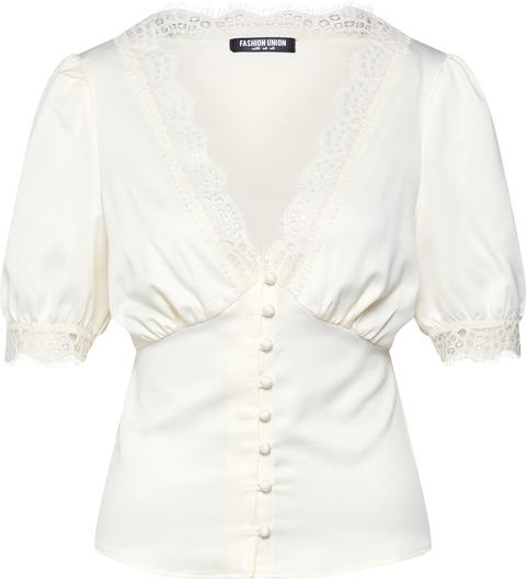 Bluzka Fashion Union z dekoltem w kształcie litery v z krótkim rękawem