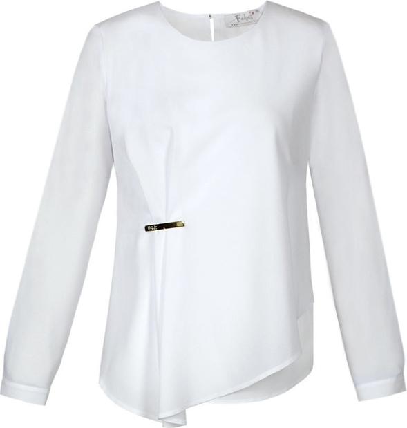 Bluzka Fokus z szyfonu z długim rękawem