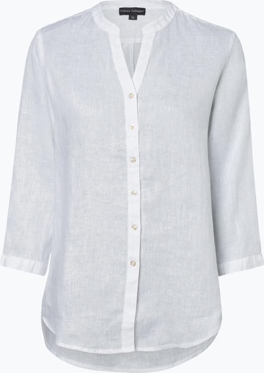 Bluzka Franco Callegari z lnu z długim rękawem