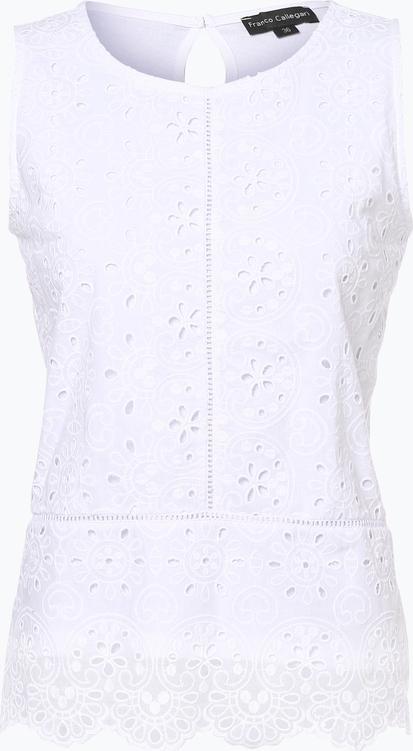 Bluzka Franco Callegari z okrągłym dekoltem bez rękawów w stylu boho