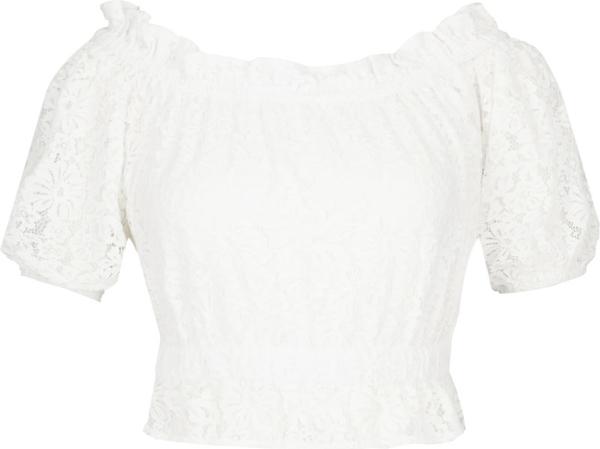 Bluzka Guess by Marciano z okrągłym dekoltem z krótkim rękawem