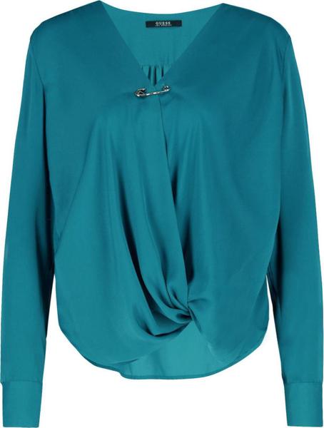 Bluzka Guess w stylu casual z dekoltem w kształcie litery v z długim rękawem