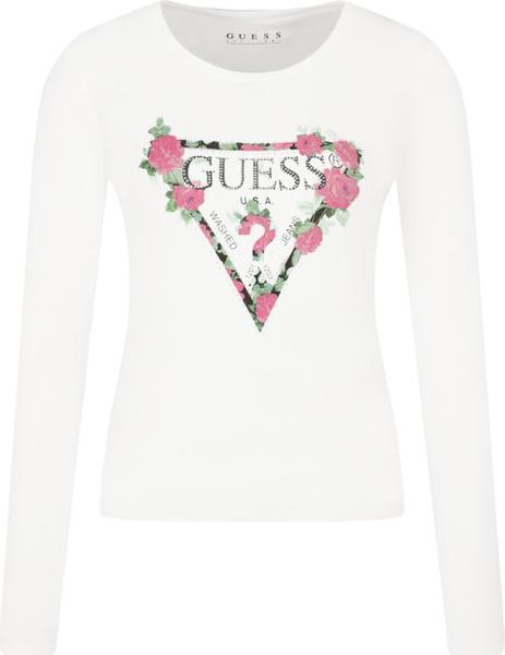 Bluzka Guess w stylu casual z długim rękawem z nadrukiem