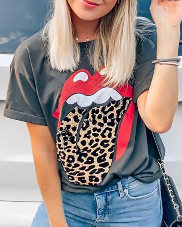 Bluzka Kendallme z okrągłym dekoltem