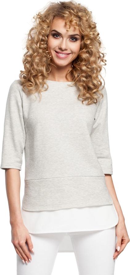 Bluzka MOE z okrągłym dekoltem z bawełny w stylu casual