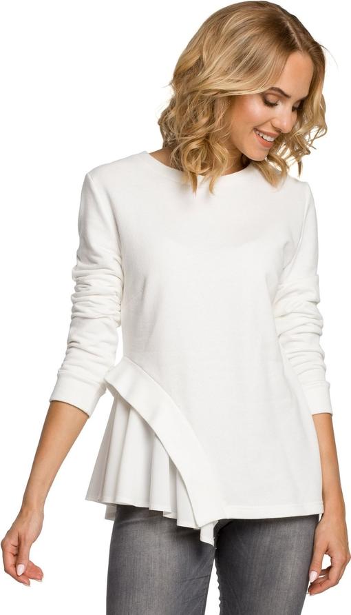 Bluzka MOE z okrągłym dekoltem z długim rękawem