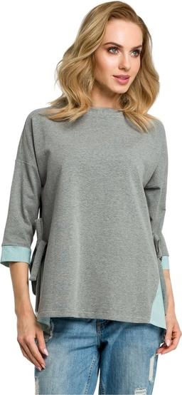 Bluzka MOE z tkaniny w stylu casual z długim rękawem