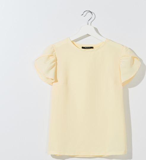 Bluzka Mohito z okrągłym dekoltem z krótkim rękawem w stylu casual