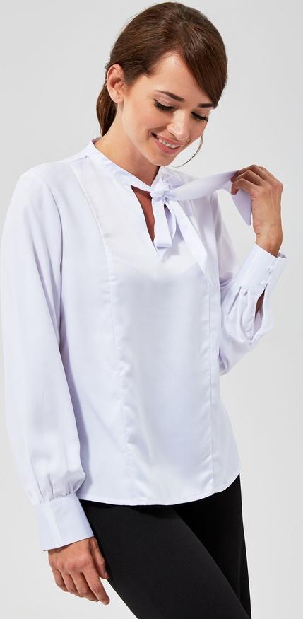 Bluzka Moodo ze sznurowanym dekoltem