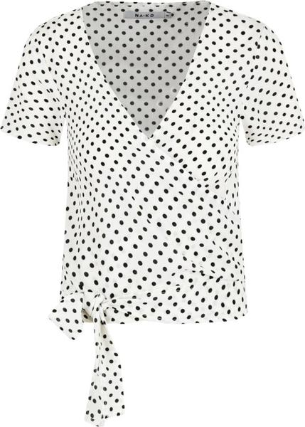 Bluzka NA-KD z dekoltem w kształcie litery v