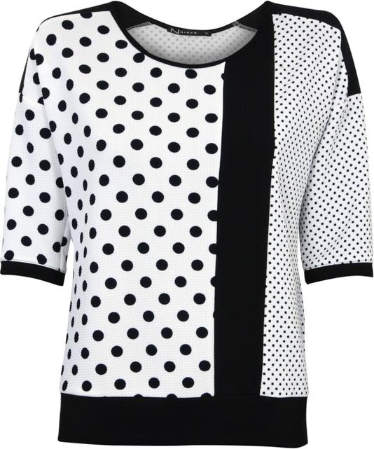 Bluzka Niren w stylu casual z krótkim rękawem z okrągłym dekoltem