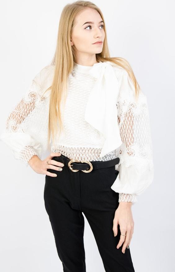 Bluzka Olika z długim rękawem w stylu glamour