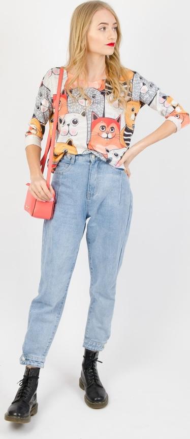 Bluzka Olika z okrągłym dekoltem w stylu casual