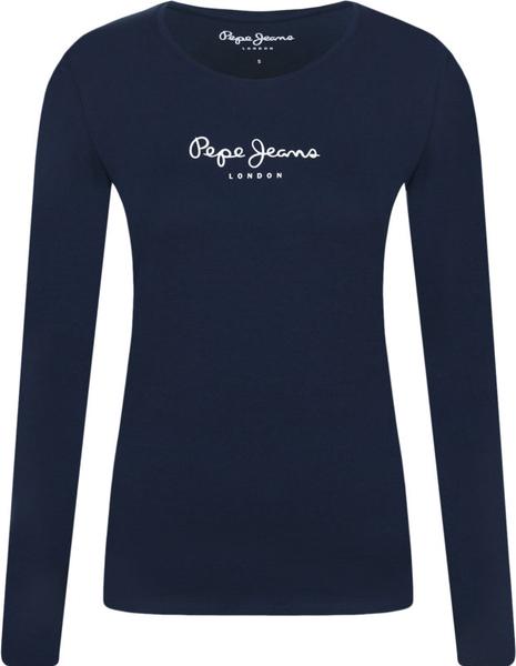 Bluzka Pepe Jeans z okrągłym dekoltem z długim rękawem