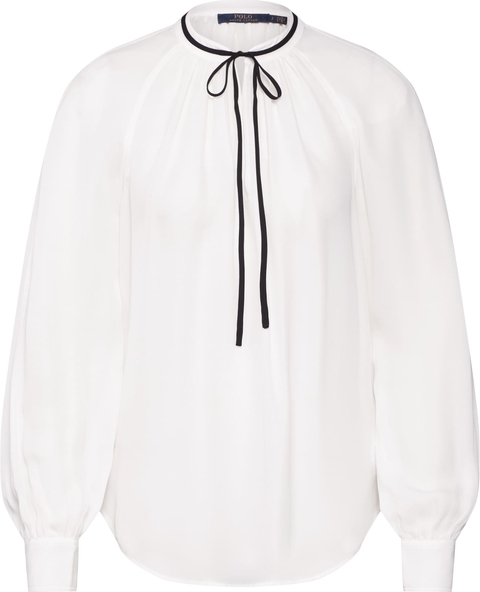 Bluzka POLO RALPH LAUREN ze sznurowanym dekoltem z długim rękawem