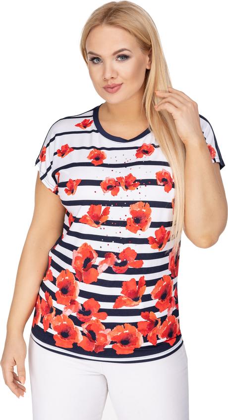 Bluzka Ptakmoda.com z tkaniny z krótkim rękawem