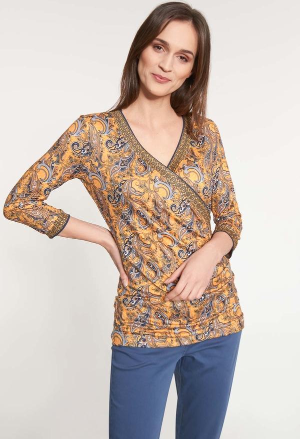 Bluzka QUIOSQUE w stylu casual z dekoltem w kształcie litery v