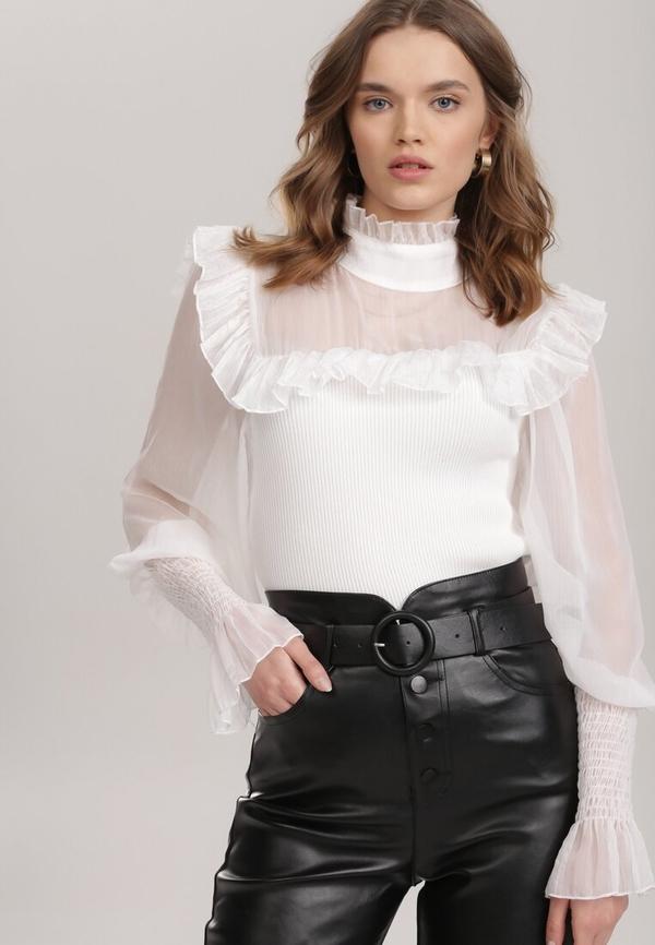 Bluzka Renee z długim rękawem z tiulu
